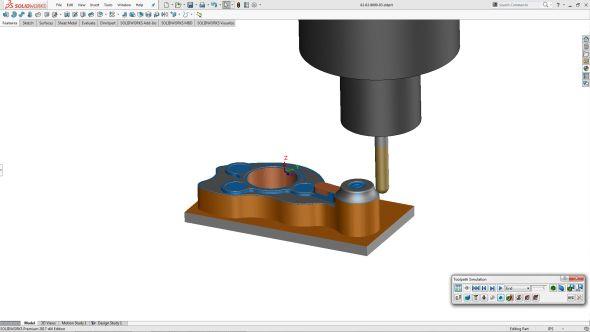 VSolidWorksu 2018 bude dostupné nové CAM řešení SolidWorks CAM pro 2,5osé frézování. Vývoj produktu zajistila společnost Geometric, která vyvíjí CAMWorks. Foto: Marek Pagáč