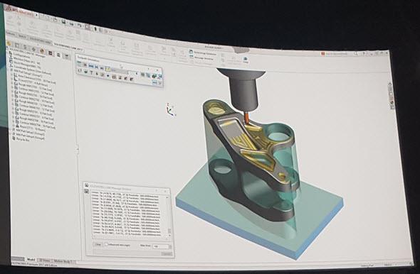 Za vývoje CAM řešení pro SolidWorks CAM, které bude dostupné vSolidWorksu 2018, stojí společnost Geometric. Ta vyvíjí CAMWorks. Foto: Marek Pagáč