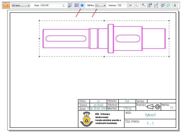 Vložte požadovaný model a vplovoucím okně nastavte Orientaci modelu (tlačítko se symbolem modré krychle) a Měřítko. Provedené úpravy potvrďte pravým tlačítkem