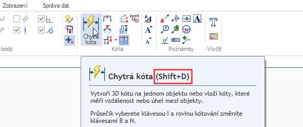 Jakmile nastavíte hodnotu na klávesovou zkratku, automaticky se bude zobrazovat u přiřazeného příkazu.