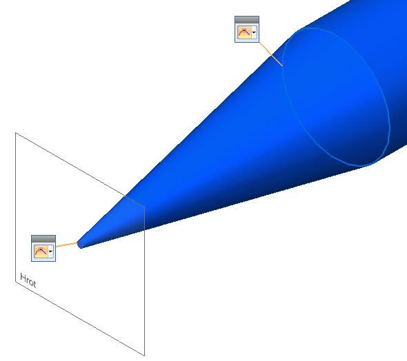 Vyberte profily a vytvořte hrot tužky