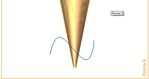 Na vzniklé rovině nakreslete křivku ze záložky Domů → Roviny → Křivka