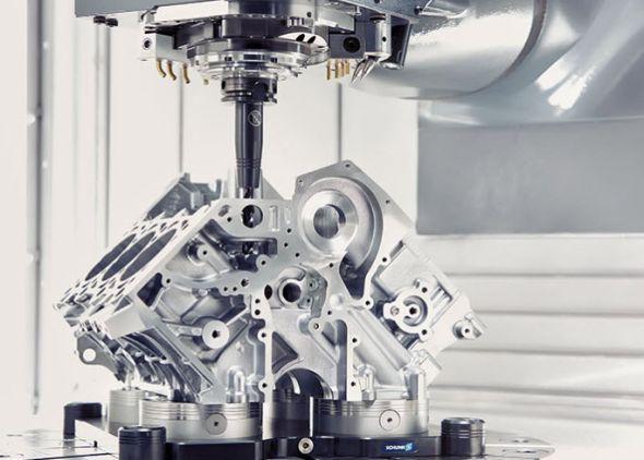 Vautomobilovém průmyslu mohou nové hydraulické upínače Tendo Slim 4ax vzdorovat tepelným upínačům. Foto: Schunk
