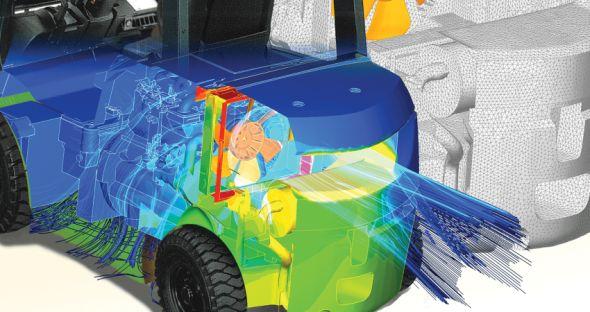 Analýzu hluku z pohledu aerodynamiky nasimuluje kombinace řešení Actran a SC/Tetra. Foto: MSC Software
