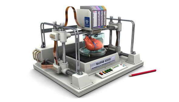 Futuristický návrh 3D biotiskárny představil začínající projekt Biofab. Foto: Biofab.com