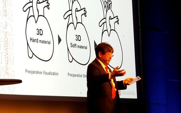 O 3D biotisku hovořil na konferenci Science in the Age of Experience 2017 vChicagu profesor a vizionář Katsushi Kunimoto . Foto: Marek Pagáč
