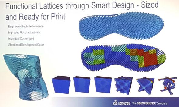Společnost nTopology živě představila konstrukci příhradové konstrukce v podrážce obuvi Adidas. Foto: Marek Pagáč