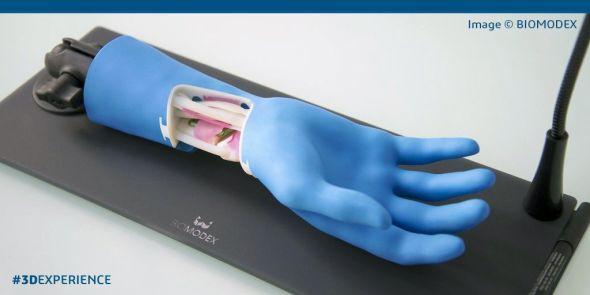 3D biotisk otevírá nové možnosti biometrickému skenování a modelování. Vývoj bionické ruky na platformě 3D Experience v podání StartUpu Biomodex. Foto: Dassault Systèmes