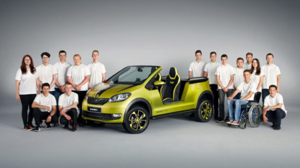 Žáci učiliště Škoda Auto postavili elektrickou buginu
