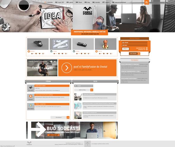 Komunitní portál FamilyFusion.cz sdružuje uživatele, odborníky a nadšence řešení Autodesk Fusion 360