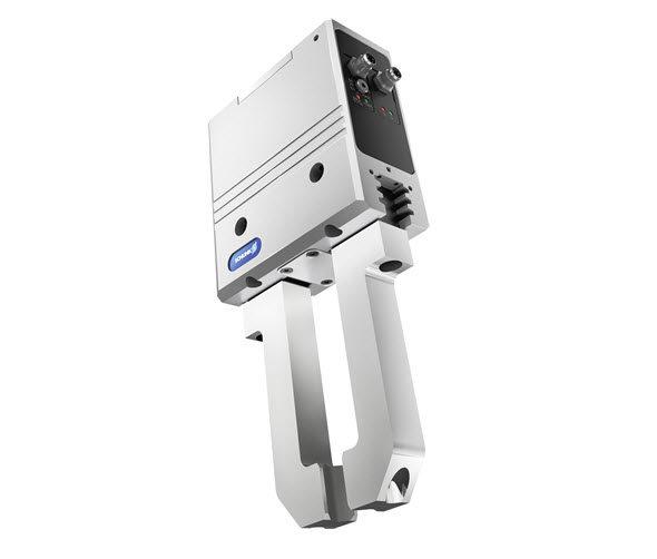 Chapadlo PGN-plus-E je celosvětově první digitálně řízené mechatronické chapadlo s patentovaným vícezubým vedením. Obr: Schunk