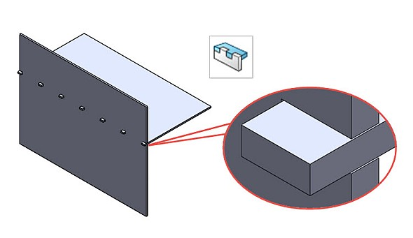 Tipy a návody pro SolidWorks: Jak vytvořit jazýček s drážkou (plechy)