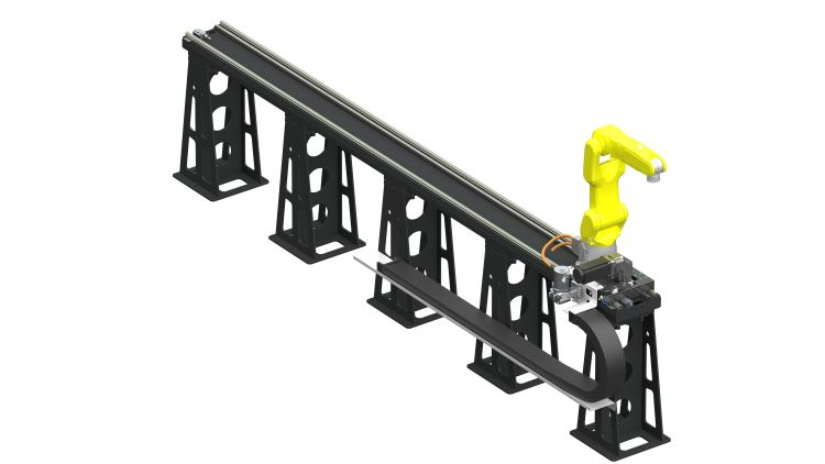Pojezdové dráhy Hiwin přidávají průmyslovým robotům sedmou osu