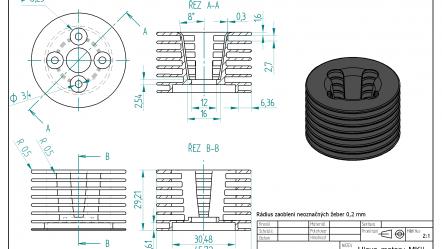 Začínáme se Solid Edge: Modelování hlavy motoru MKII – Zadání
